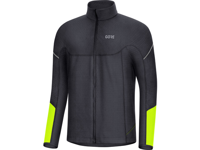 GORE WEAR M Thermo Long Sleeve Zip Shirt Men black/neon yellow